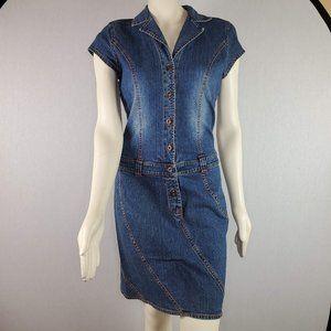 Tommy Hilfiger Jeans Denim Dress Size Large Blue